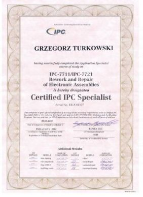 AiD Serwis Certyfikat IPC Turkowski